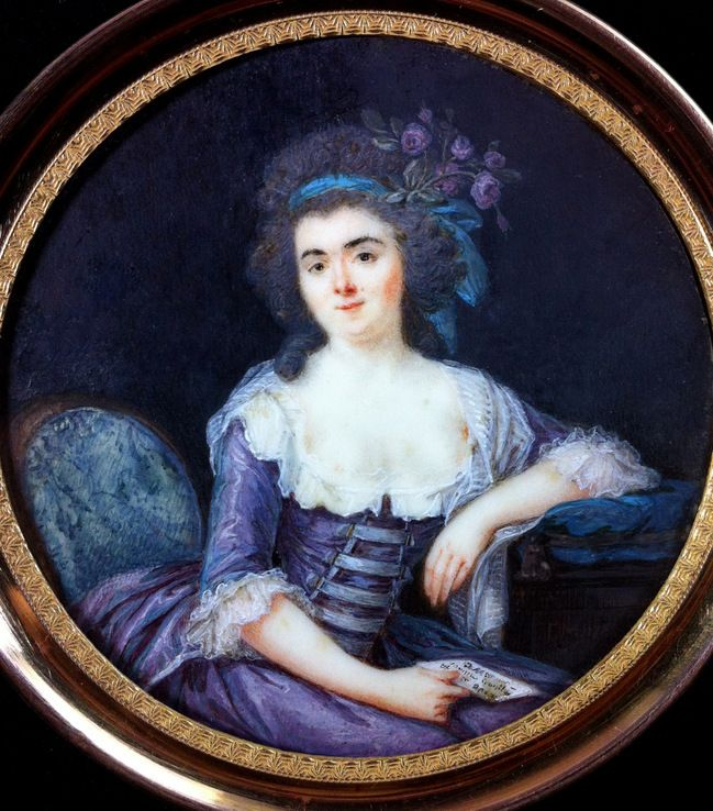 Galerie - MOUCHET François Nicolas (1749-1814), MINIATURE PORTRAIT OF A LADY AT HER WRITTING TABLE, DATED 1780