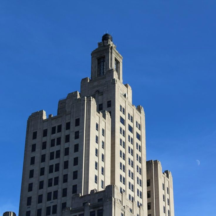 I love this building, it is officially the Bank of America building, but I prefer it's other name of 'The Superman Building'.  Providence is such a wonderful city.
