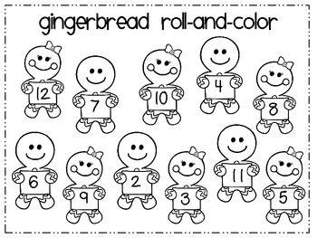 Gingerbread Math Freebie - Andrea M - TeachersPayTeachers.com