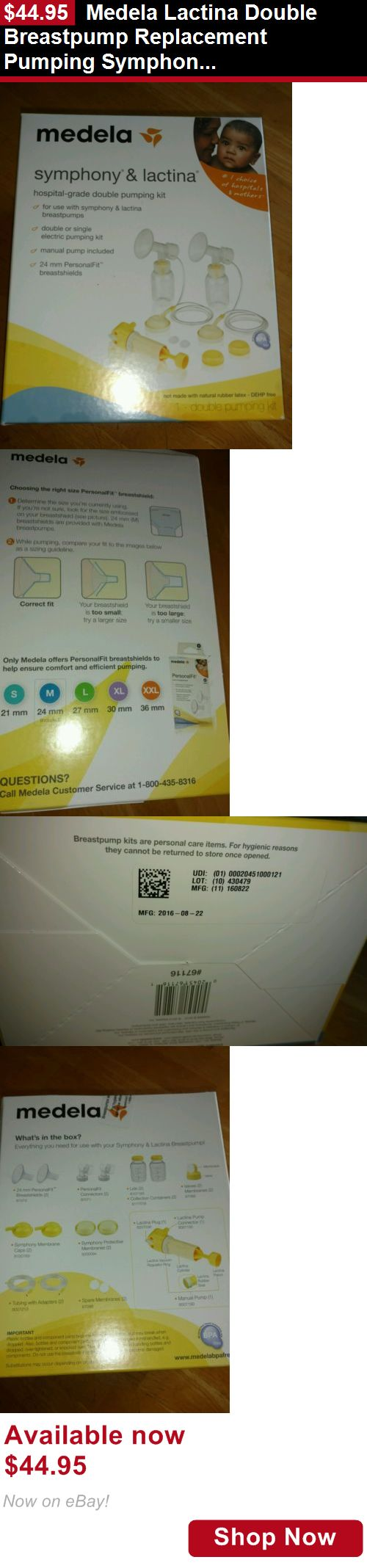 Breastfeeding Supplies: Medela Lactina Double Breastpump Replacement Pumping Symphony Kit Spare Parts BUY IT NOW ONLY: $44.95