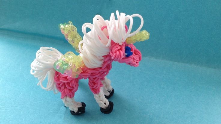 Rainbow Loom Charms: UNICORN / PEGASUS: How To Tutorial (DIY Mommy)