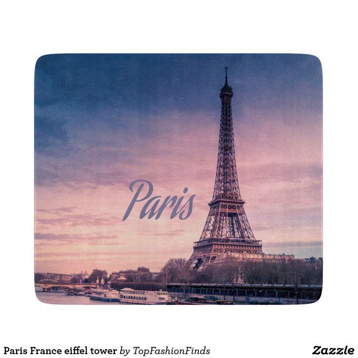 Paris France eiffel tower Cutting Board   Zazzle.com