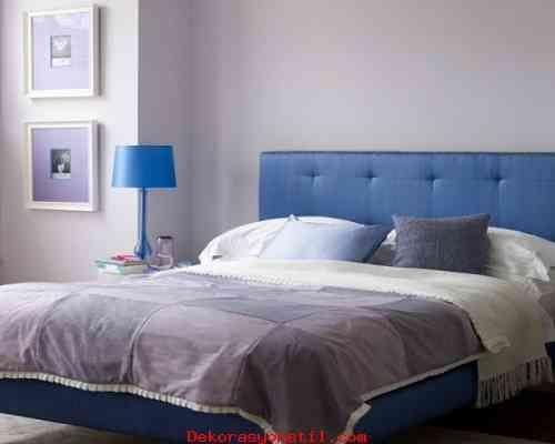 awesome Yatak Odasında Mavi ve Gri Tonlar 2015