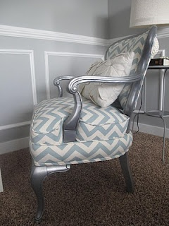 Little Miss Penny Wenny: Chevron Chair - DIY reupholstered chair