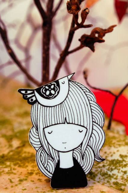 Lady Desidia #illustration #brooch