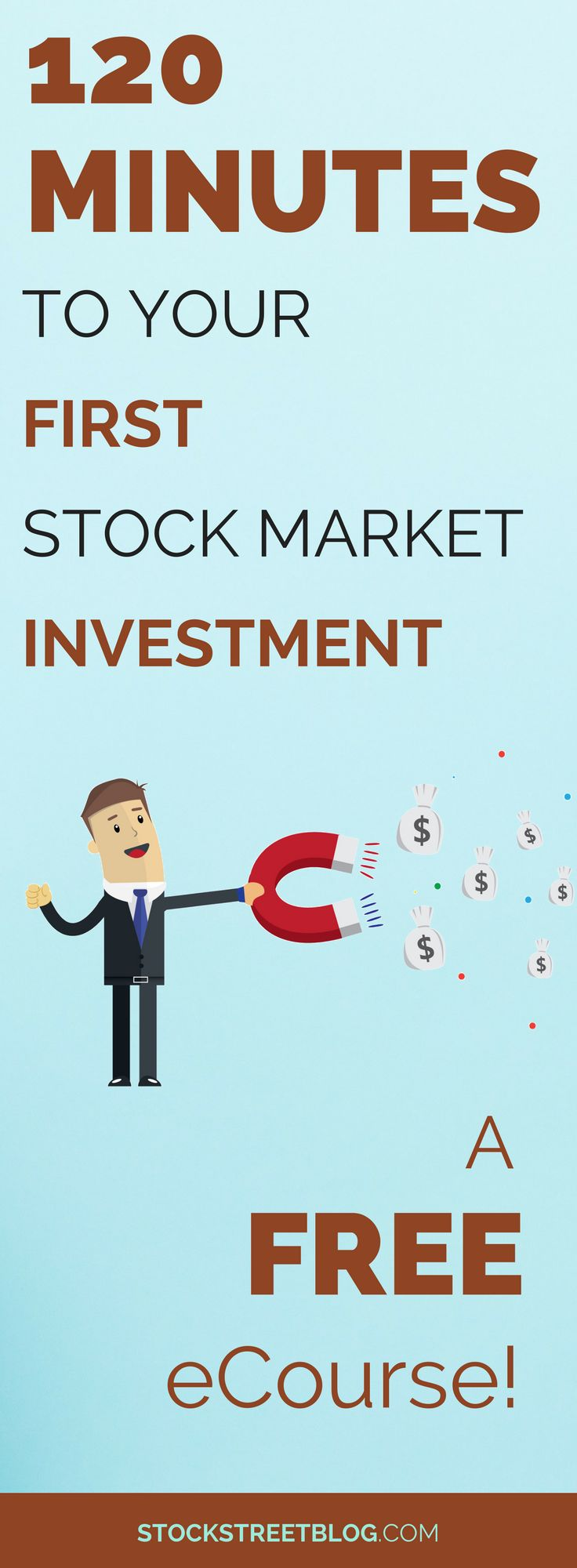 Do you find investing to be complicated? Are you not sure where to begin when investing your money? This FREE eCourse will help you make your first stock market investment with as little as $100! #money #savings #personalfinance #freebie