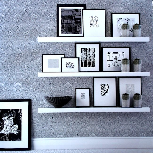 Black & White Collection by Vision .  Wallpapershop / Murrays Interiors