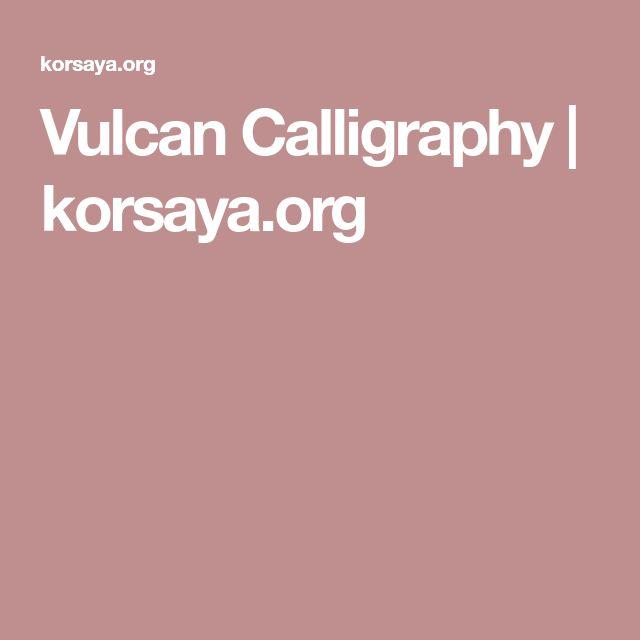 Vulcan Calligraphy | korsaya.org