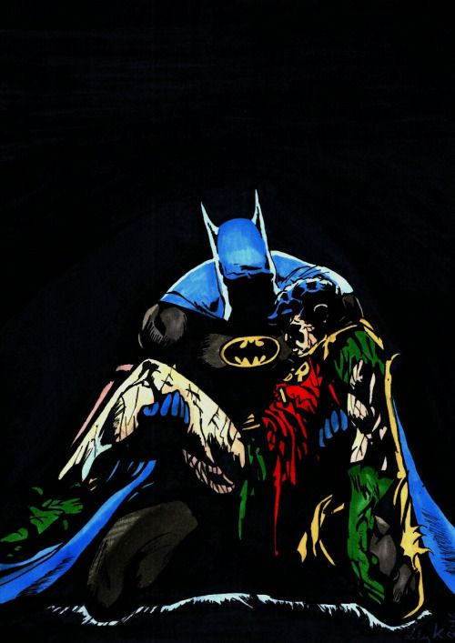 Robin's dead. My take on the famous Batman cover.