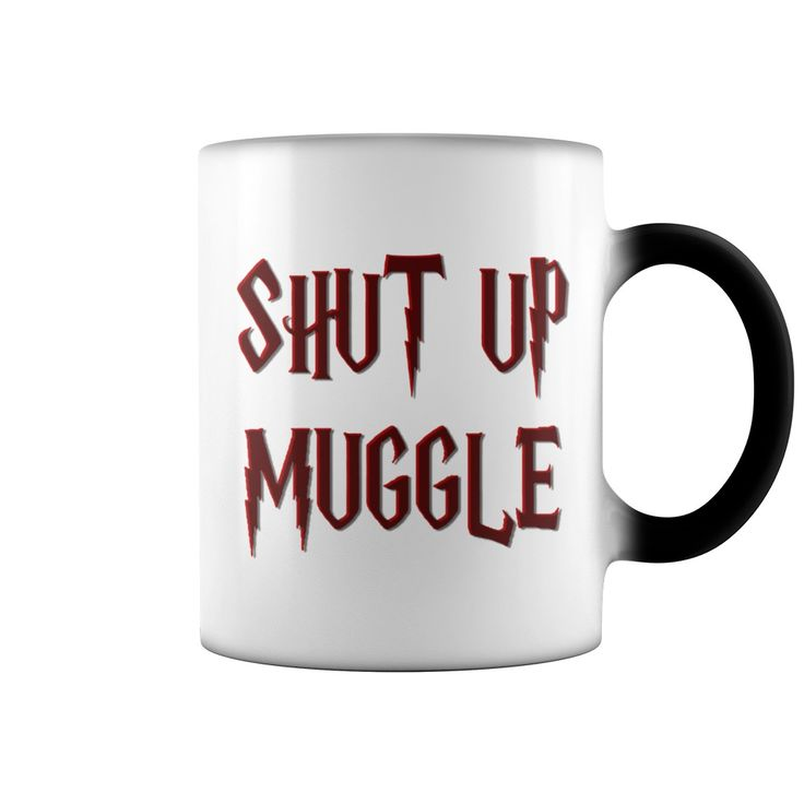 Shut up funny Harry style shirts 3d effect mug lettering magical design nerdy geek books movies red