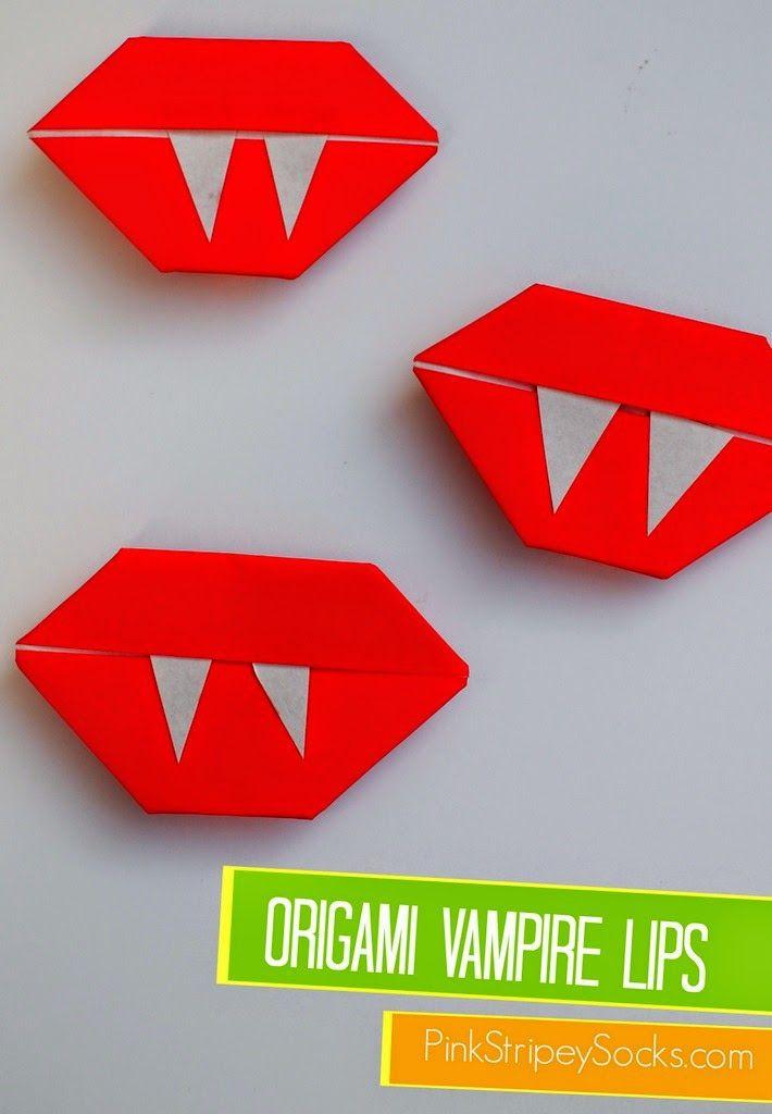easy origami vampire lips