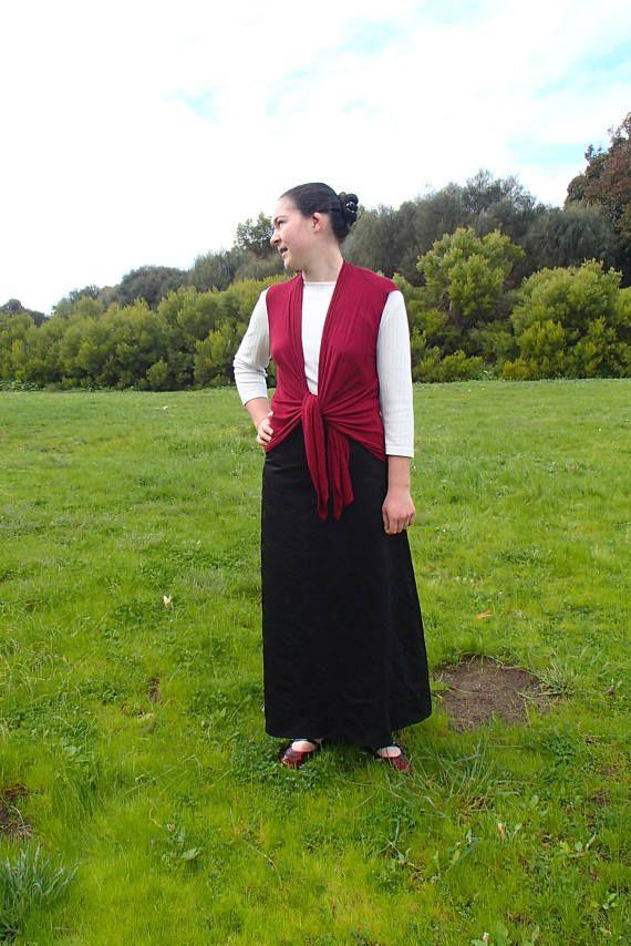 Modest Black A-line Maxi Skirt
