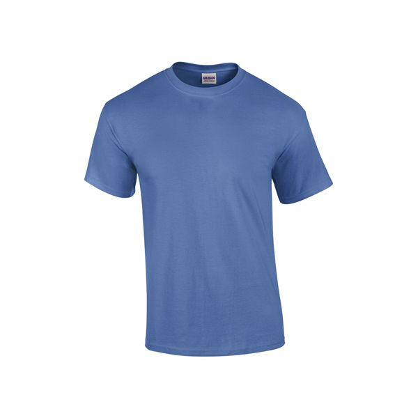 "Adult Gildan (R) Ultra Cotton (R) t-shirt, 10 oz., 100% cotton preshrunk jersey knit. 7/8"" rib knit collar. Taped neck and shoulders. Quarter-turned."