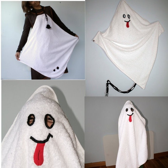 hooded towel for babies and ghost costume for toddlers