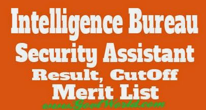 Ministry of Home Affairs, Government of India will announce Intelligence Bureau IB Security Assistant Result 2014. Check IB Security Assistant Executive Cut Off Marks and Merit List