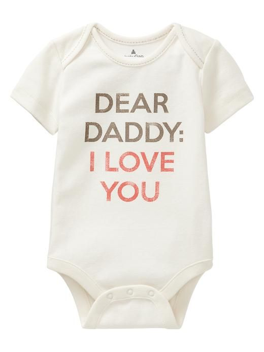 Gap | Favorite Mommy & Daddy love bodysuit