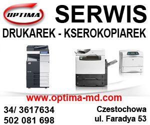 Częstochowa  Optima serwis drukarek i kserokopiarek sprzedaż laptopów