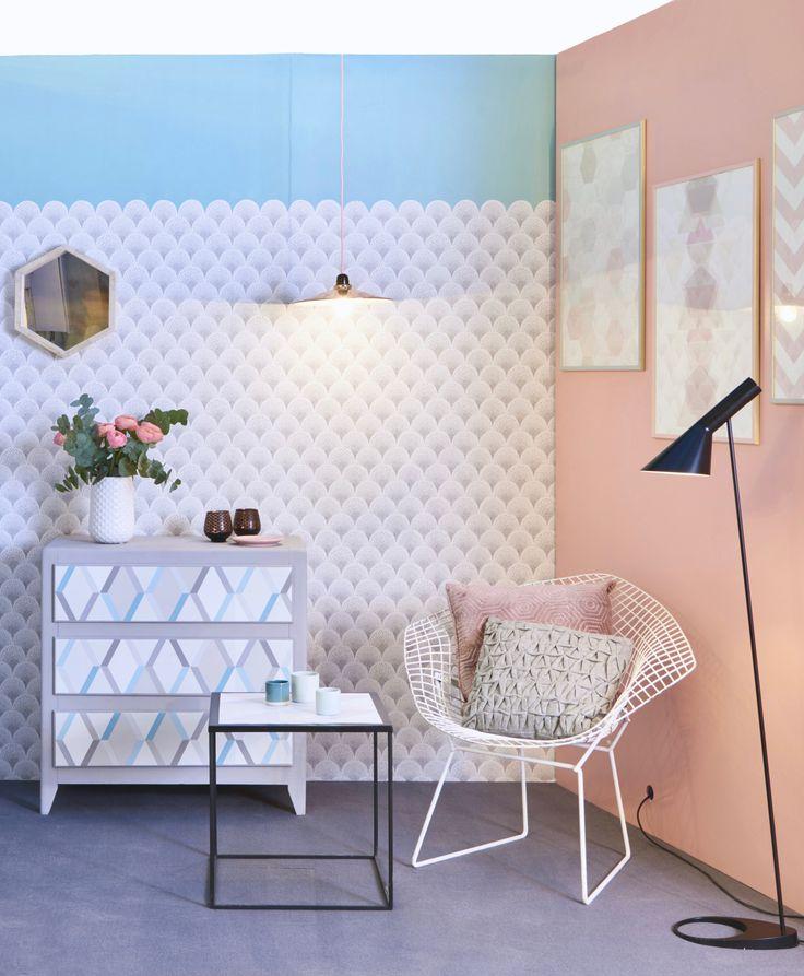 les 68 meilleures images du tableau papier peint peinture sur pinterest. Black Bedroom Furniture Sets. Home Design Ideas