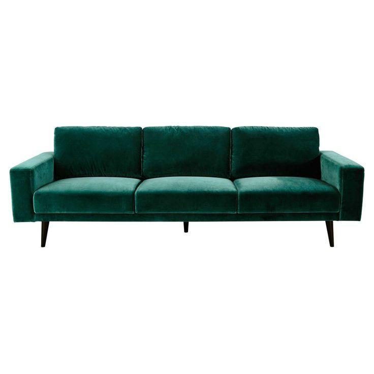 4 seater velvet sofa in peacock ... - Clark