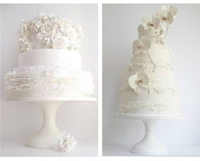 все белые свадебные торты 2