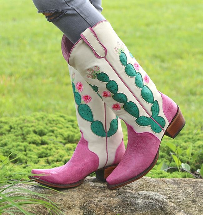 Junk Gypsy by Lane pink cactus boots