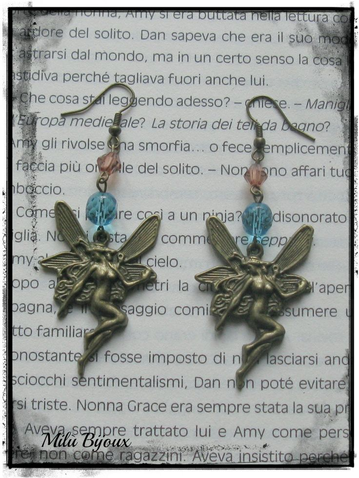 Fairies bronze with crystals