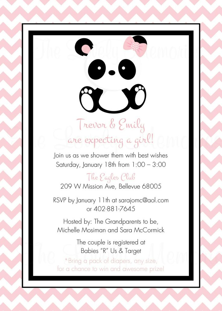 15 best Panda Baby Shower and Theme images on Pinterest | Panda ...