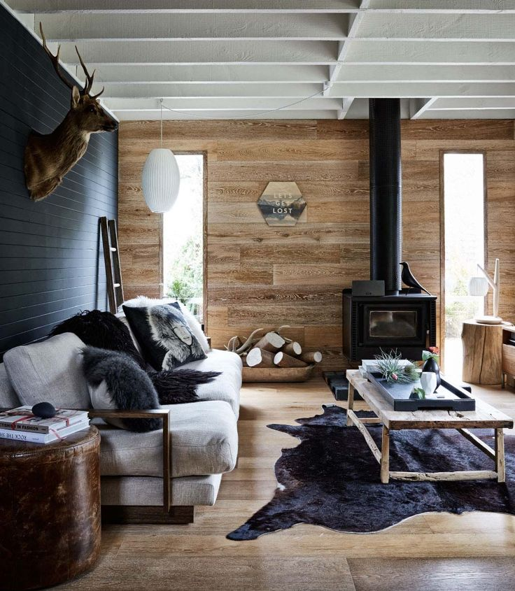 25 best ideas about contemporary cabin on pinterest for Small rustic cabin interiors