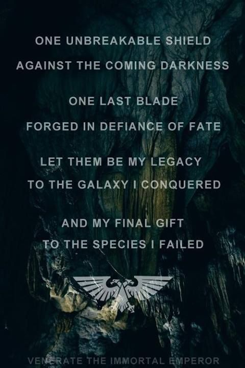 The Emperor S Last Words Warhammer 40k Pinterest