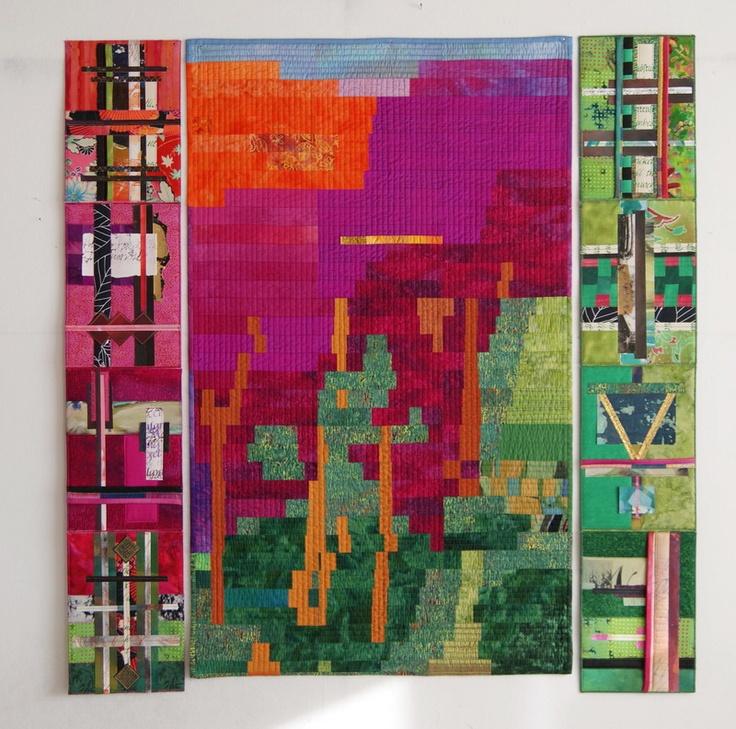 My Work: Quilt with Leporellos http://meinequiltsundich.blogspot.com