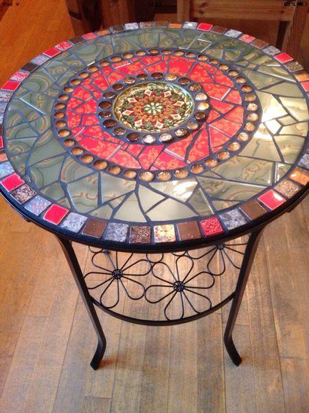 Gartentisch Rund Mosaik sdatec.com