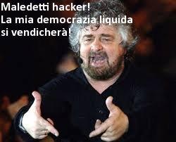 """12/04/2013 Il blog Di Beppe Grillo denuncia un attacco informatico durante le svolgimento on-line delle """"quirinalizie"""""""