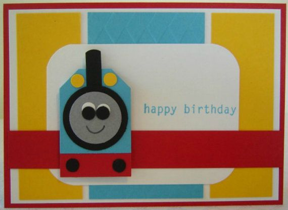 Thomas the Train Birthday Card by 2CheekyChicks on Etsy