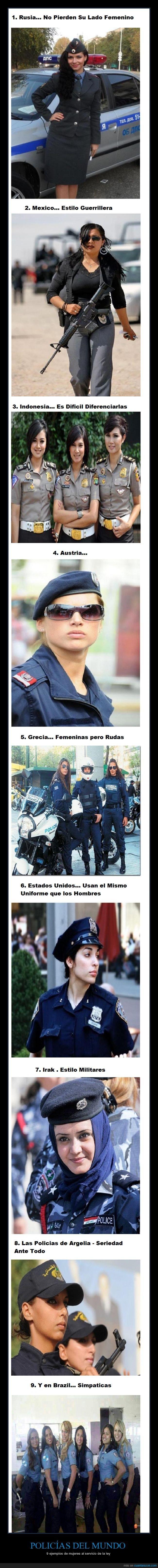 POLICÍAS DEL MUNDO - 9 ejemplos de mujeres al servicio de la ley Gracias a http://www.cuantarazon.com/ Si quieres leer la noticia completa visita: http://www.estoy-aburrido.com/policias-del-mundo-9-ejemplos-de-mujeres-al-servicio-de-la-ley/