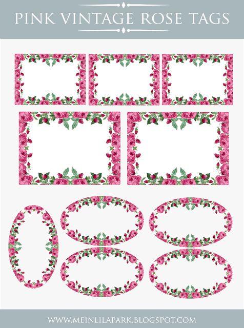 des étiquettes aux jolis motifs de roses anciennes...
