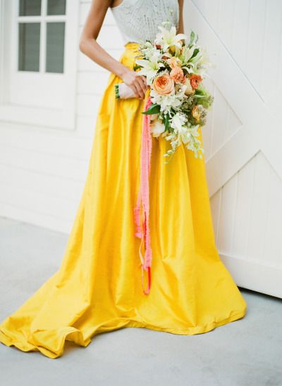 Are you a bold bride? http://www.stylemepretty.com/2015/07/14/authentic-colorful-cuban-wedding-inspiration/ | Photography: Jose Villa - http://josevilla.com/