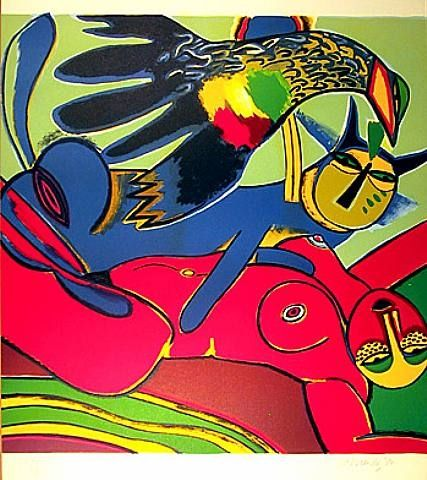 She Gives Herself to Summer - Corneille - Fauvism, Neo-Expressionism, 1980