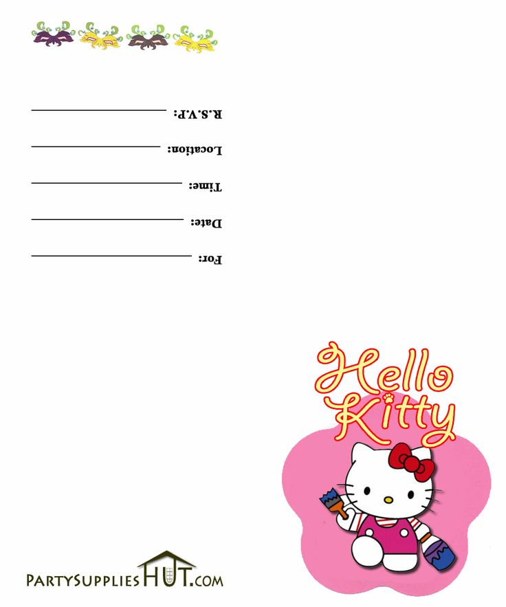 Unique Hello Kitty Invitations Ideas On Pinterest Hello - Free hello kitty birthday invitation templates
