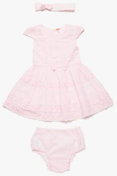 Koton Kız Bebek Fiyonk Detaylı Elbise Seti https://modasto.com/koton/kiz-cocuk/br1243ct105