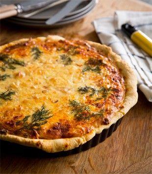 Onion, Gruyere, speck & sour cream quiche   Karen Martini