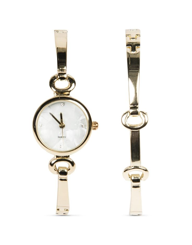 Stunning watch and bracelet set to keep mom stylish and on time.