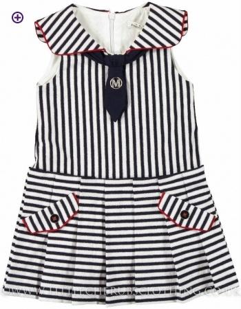 Stripe Dress - MAYORAL 3919 - Little Cherubs Clothing
