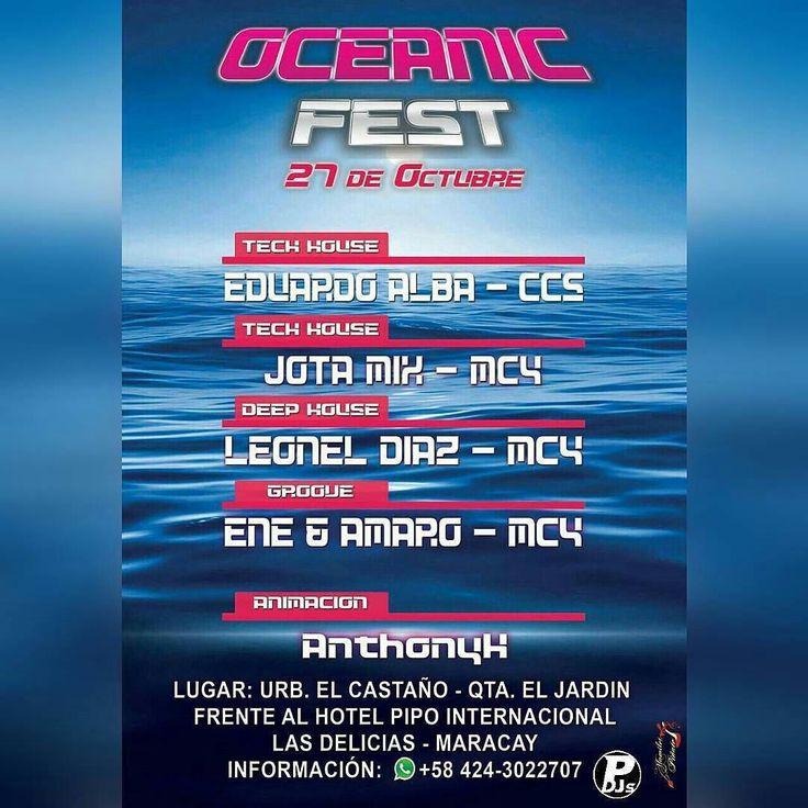 Hoy 27 no te pierdas este Gran Festival de Musica Electronica  #Maracay Con un Line Up de Djs Exclusivos y VIP  inf. 0424-3022707 MUJERES GRATIS  #portaldedjsEsRumba #rumbita #playa #sol #partydj #festival #electronica #dj #Regrann