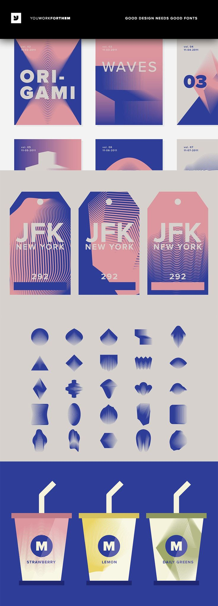 #affiliate A collection of 25 warped, sharp, liquid-like vector drawings inspired by Origami patterns. Taking the idea of Japanese Origami and throwing a distorted wave-like twist on it, this collection gives you a very unique set of design elements. For Adobe Illustrator or Corel Draw