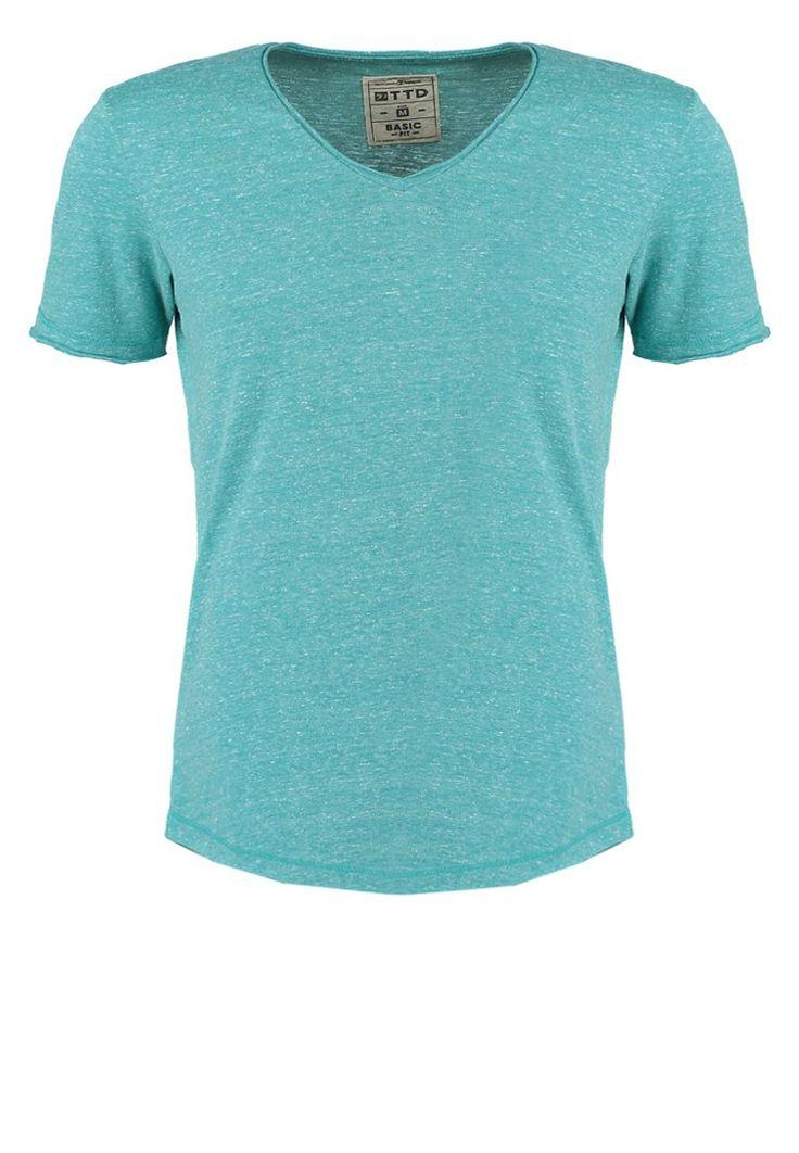 TOM TAILOR DENIM BASIC FIT TShirt basic bug green Bekleidung bei Zalando.de | Material Oberstoff: 55% Polyester, 34% Baumwolle, 11% Viskose | Bekleidung jetzt versandkostenfrei bei Zalando.de bestellen!