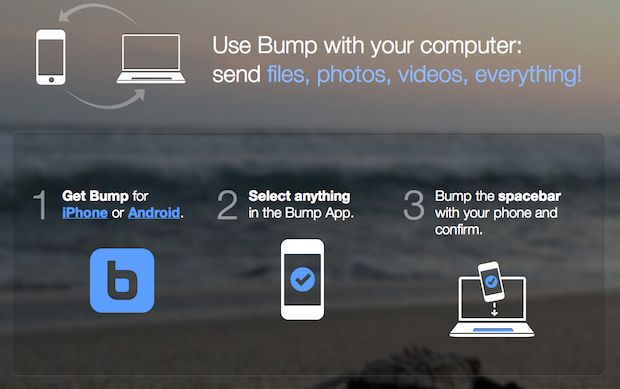 Bump app now allows transfers of any file between phone and computer