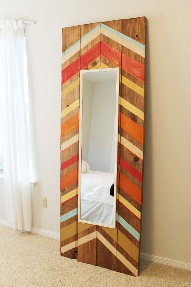 Add a rustic reclaimed wood touch to your bedroom with this DIY floor-length mirror project. This is a great eclectic decor addition to include in your home makeover.