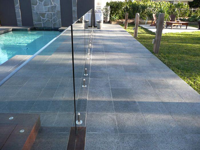 Black Granite The Pool Tile Company Home Outside