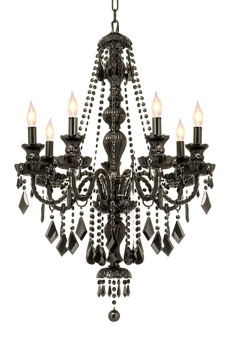 Jet Black All Crystal Chandelier
