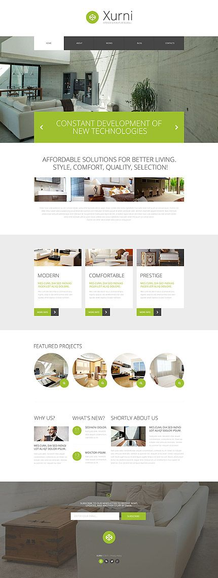 Interior & Furniture Bureau Site #WordPress #template. #themes #business #responsive